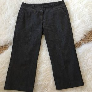 Sandro Culottes Black Stretch Chambray size 4